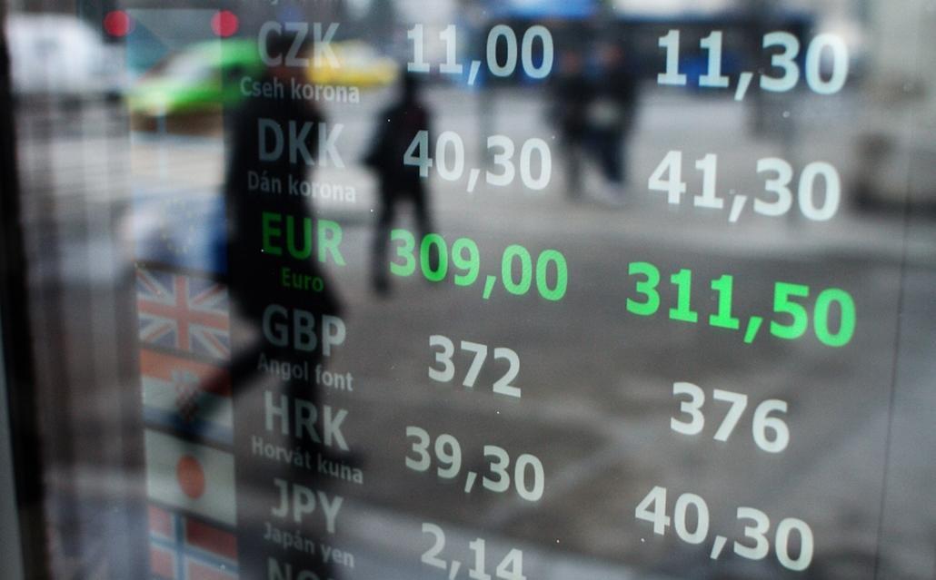 fm. - EURO - 311-313 között a mai napon: 14.01.30. - euró, árfolyam, pénzváltó,