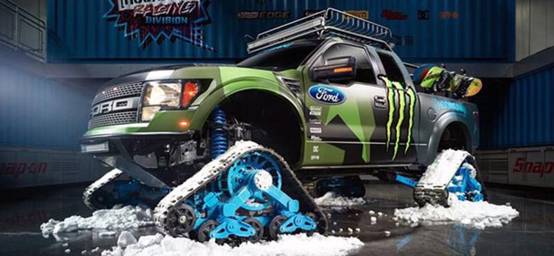 Ford Raptorból épített brutális téli verdát Ken Block - fotó