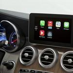 Az új Mercedes C-osztályban debütál az Apple autós rendszere