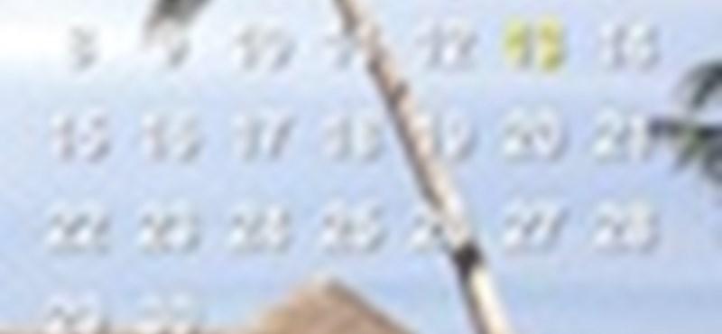 Tegyen naptárat a háttérképeire, automatikusan és ingyen