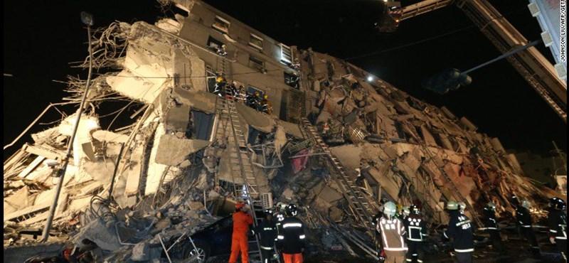 Erős földrengés volt Tajvanon, halottak is vannak