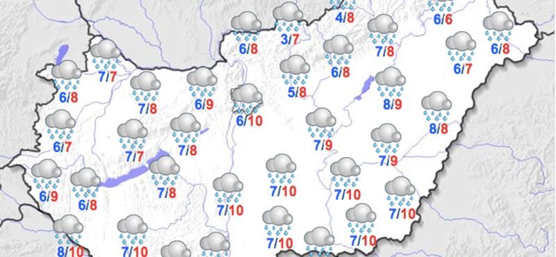 Esős lesz a szenteste, napközben 12 fok lehet