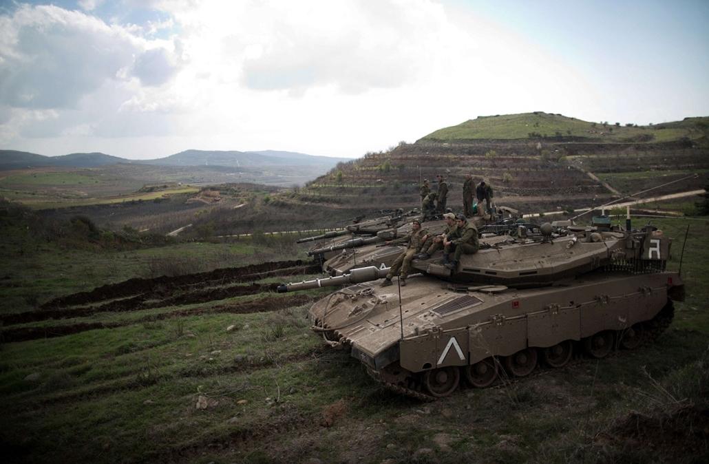 afp.14.03.19. - Golan-fennsík: izraeli katonák a szír határon - 7képei