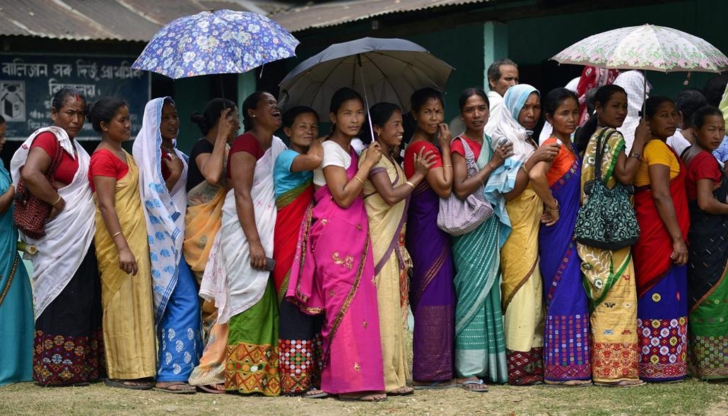 epa. Parlamenti választások Indiában, Lakhimpur 2014.04.07.