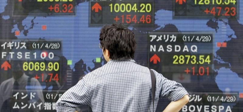 Mélyben a tokiói tőzsde