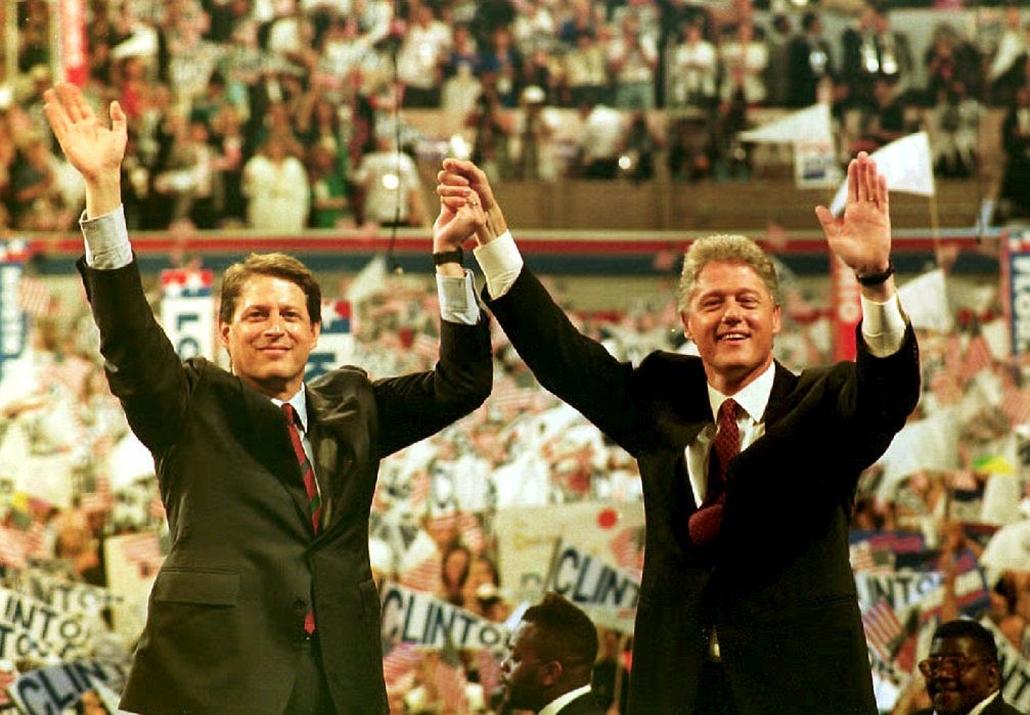 1992.07.17. - Al Gore szenátor és Bill Clinton - CLNTNAGY