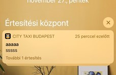 Furcsa jelzéseket küldött a mobilokra a budapesti City Taxi alkalmazása