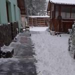 Nagy hó esett Hargitafürdőn