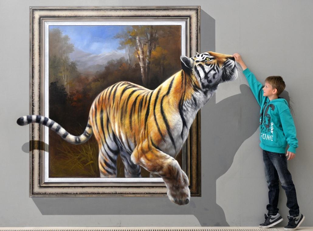 Háromdimenziós festménykiállítás Németországban Augustusburg, 2013. június 27.