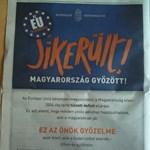 Fotó: hirdetésben gratulál a magyaroknak a kormány