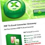 40 dolláros PDF/Excel konvertáló, március elsejéig ingyen tölthető!