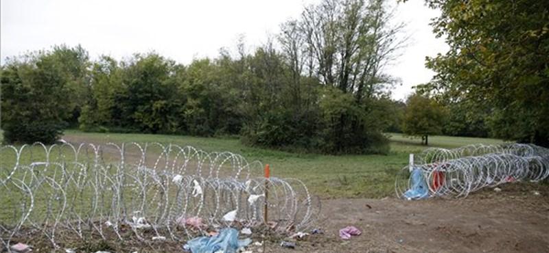 Fotó: Kétméteres rés tátong a gyodán a horvát határnál