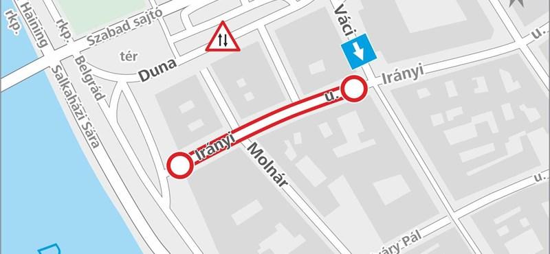 Újra változik a közlekedés holnaptól a Ferenciek terénél