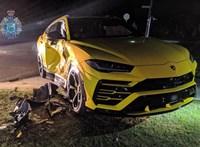 Lopott kocsival menekülő tini tört össze egy Lamborghinit