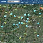 Térkép: Több városban veszélyes a levegő