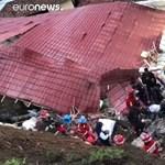 Épp lakodalmat ünnepeltek, amikor összedőlt egy szálloda Peruban