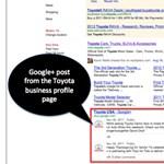 Google+ oldalak a keresési találatok között