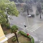 Rászakadt az ég Zadarra, a város kórháza is szétázott – videó