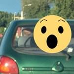 A nap képe: na, mi hiányzik az autóról, ami 70 km/h-val döcög a belső sávban?