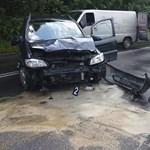 Fotók a Hűvösvölgyi úti halálos motorbaleset helyszínéről