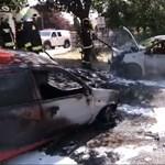Videó: Parkolóban álló autók gyulladtak ki Szombathelyen