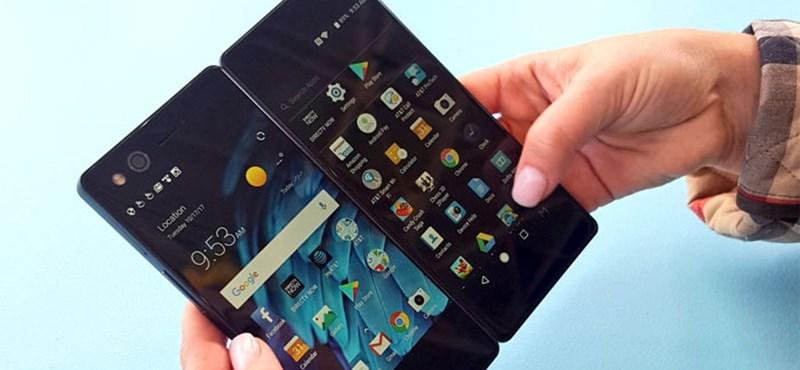 Ilyen sem nagyon volt még: összehajtható duplaképernyője van a ZTE androidos telefonjának