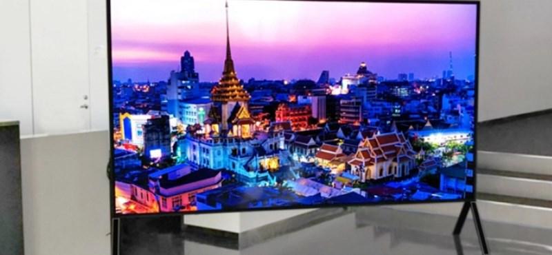 Sosem látott méretű LCD televíziót mutat be a Sharp