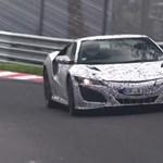 Már a Nürburgringen repeszt az új Honda NSX – videó