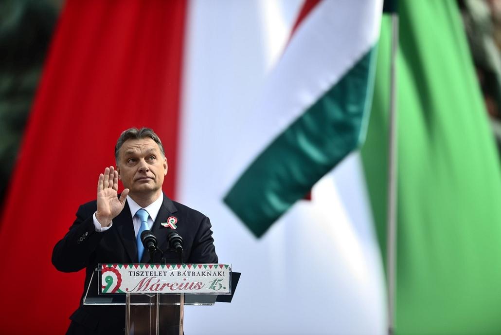 SA. 2014. március 15. Nemzeti ünnep, Nemzeti Múzeum, Orbán Viktor