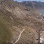 Videó: hatalmas földcsuszamlás sújtotta a világ egyik legszebb panorámaútját