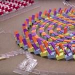 Meg tudja mondani, merre dőlnek a dominók ezen a videón? Mennyire biztos benne, hogy arra?