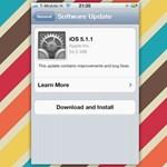Letölthető az iOS 5.1.1-es frissítése iPadre és iPhone-ra