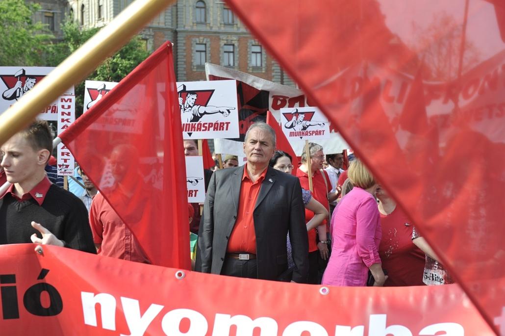 2013. május 1. Thürmer Gyula, munkáspárt, Munkáspárt majálisa
