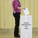 A részeredmények szerint Caputová és Sefcovic jut a szlovák elnökválasztás második fordulójába