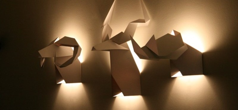 Origami lámpák