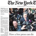 A New York Times címlapon hirdeti, hogyan ölték meg az Origót