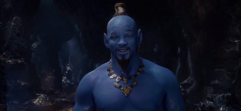 Will Smith nagyon kék az élő szereplős Aladdin előzetesében