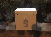 Üres, leplombált urnát találtak az utcán Budakeszin