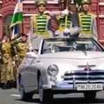 Titokzatos modern Pobjedák a nagy moszkvai katonai parádén
