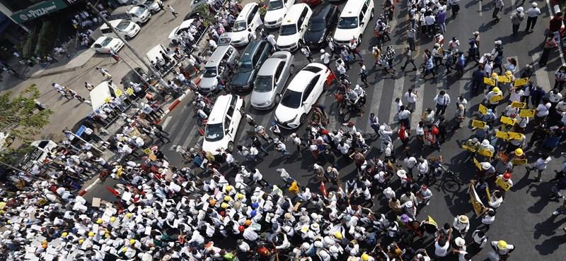 A general strike began in Myanmar
