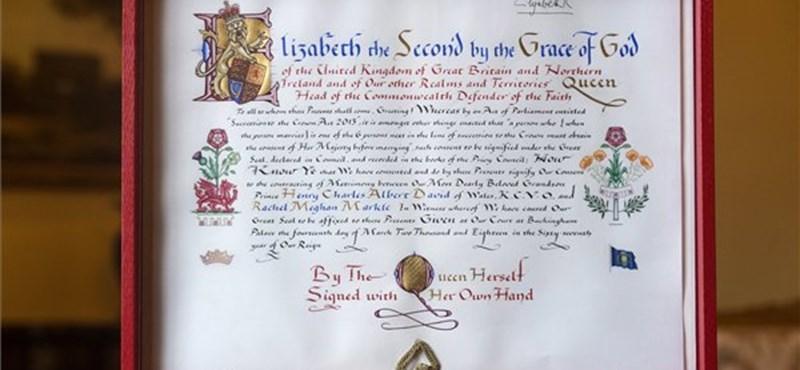 II. Erzsébet most mondta rá az áment unokája házasságára