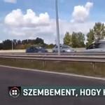 Videó: Forgalommal szembehajtva próbálta elkerülni a dugót egy autós az M5-ösön