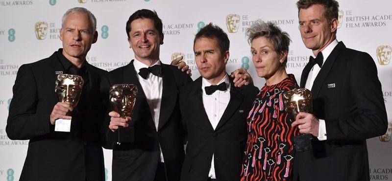 Agyondíjazták a Három óriásplakátot az idei BAFTA-gálán