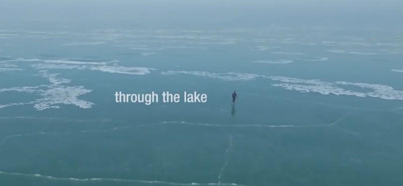 Újabb elképesztő film a befagyott Balatonról