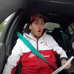 Még az F1-es csapattárs Giovinazzit is megviselte, amikor Raikkönnen elvitte egy körre - videó