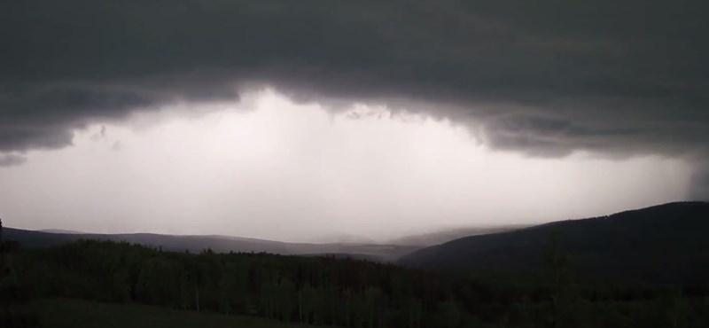 Videón a vihar: eljött az ítéletnap a Kőszegi-hegységben