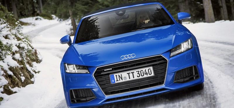 Télen is megautóztatták az Audi TT Roadsterét