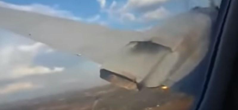 Videóra vette, ahogy lezuhan a repülőgépük