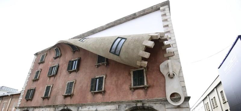 Nem vicc: lecipzárazták egy milánói épület homlokzatát (fotó)