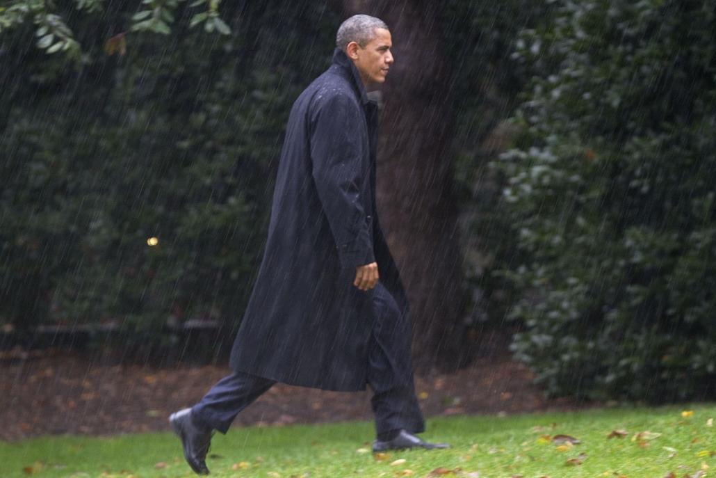 Barack Obama virginiai és coloradoi beszédeinek lemondása után visszatér a Fehér Házba - Sandy hurrikán